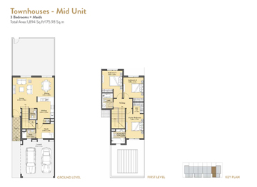 3 Bedroom Townhouses Midunit